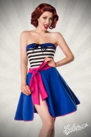 Rockabilly Wickelrock blau