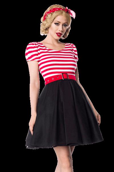 Kleid in Rot Schwarz