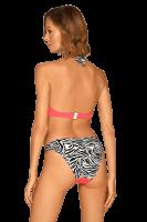 Neckholder Bikini Pink mit Zebramuster