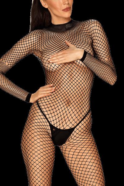 Langarm Catsuit aus Netz