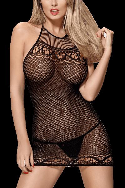 Neckholder Kleid aus Netz