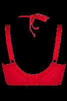 Hebe-BH mit Wetlook rot