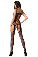 Bodystocking mit Mustern und Cutouts ouvert
