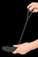 Vibrations-Analplug mit Penisring schwarz - Gr. L