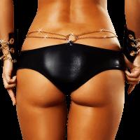 Wetlook Panty mit Ketten
