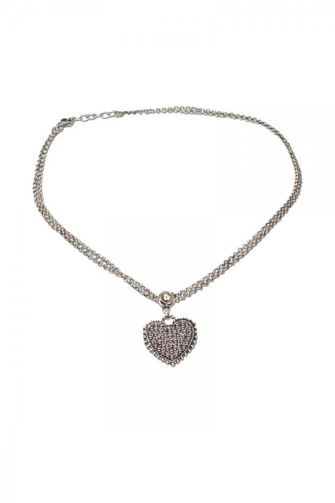 Halskette mit Strass-Herz