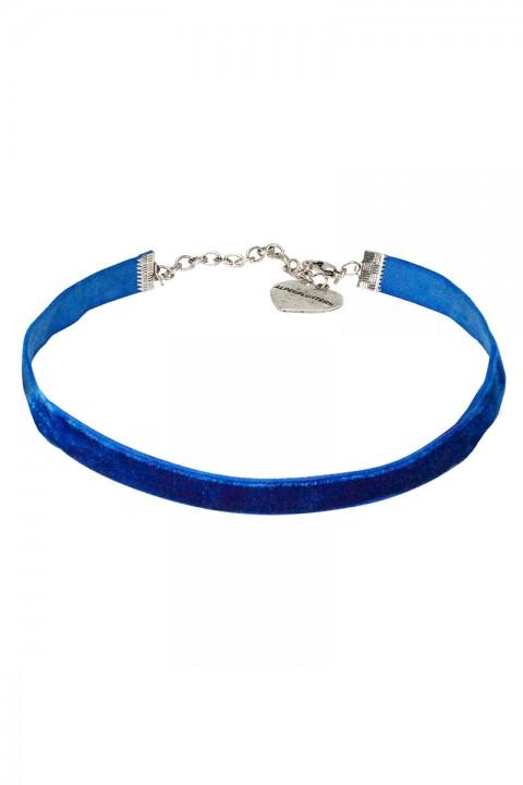 Kropfband aus Samt blau