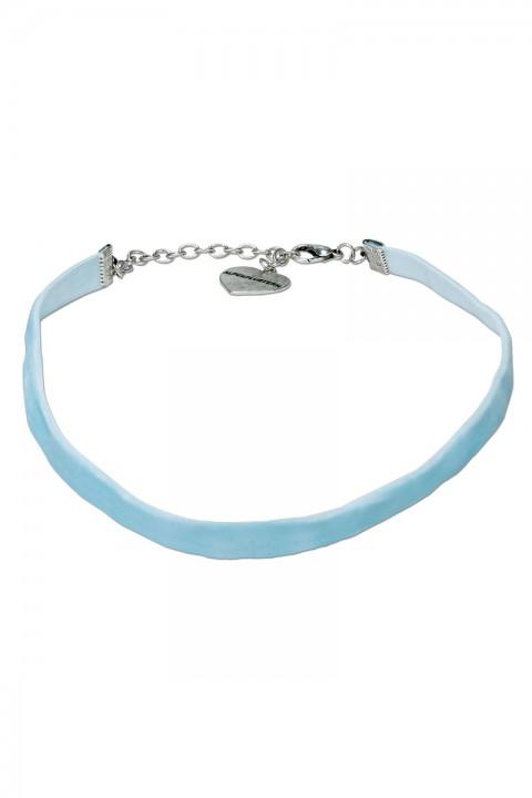 Kropfband aus Samt hellblau