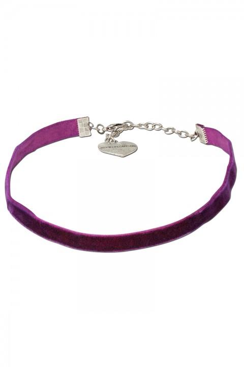 Kropfband aus Samt lila