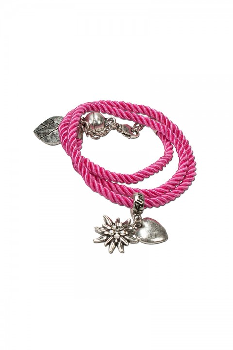 Armband zum wickeln pink