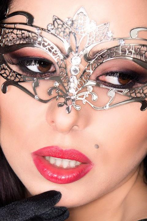 Silberne Damen Maske