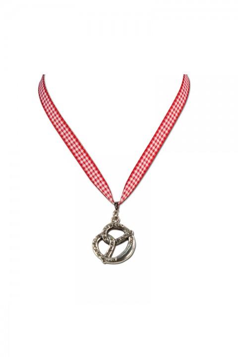 Halskette Brezel rot