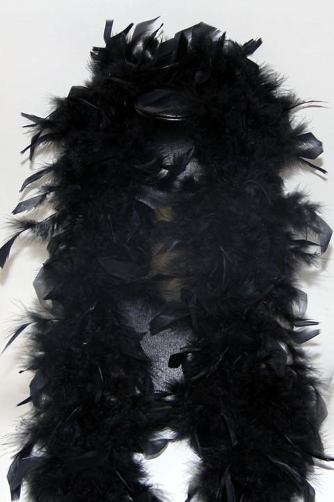 schwarze Federboa