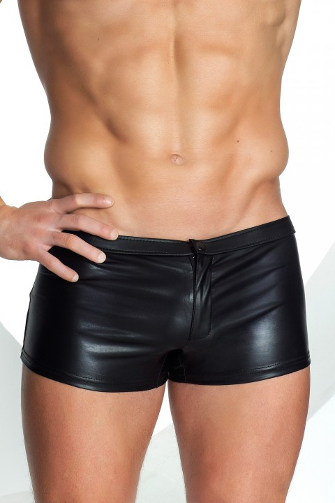Wetlook Shorts mit Applikation