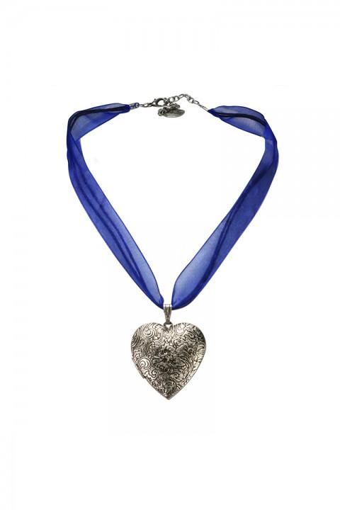 Halskette mit Amulett blau