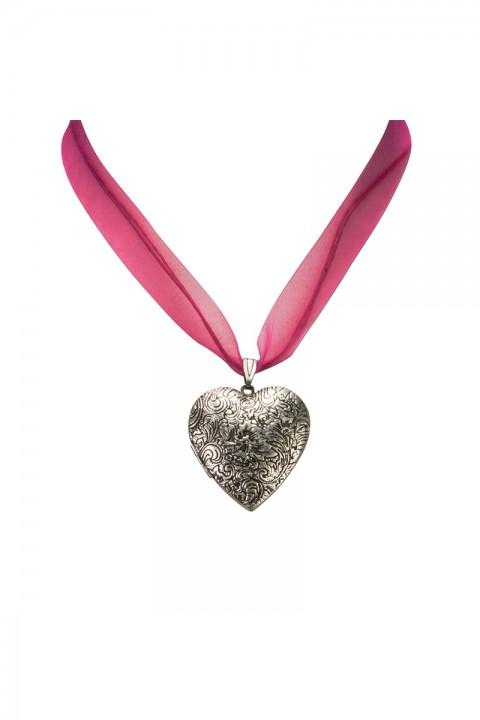 Halskette mit Amulett pink