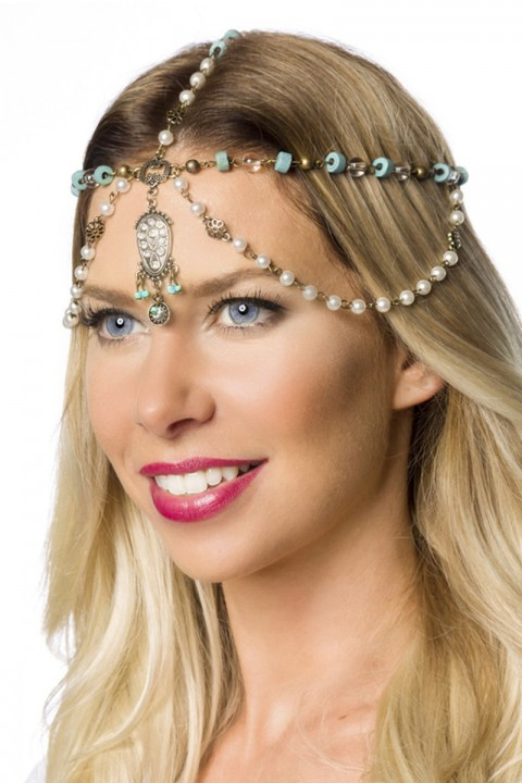 Kopfschmuck mit Perlen