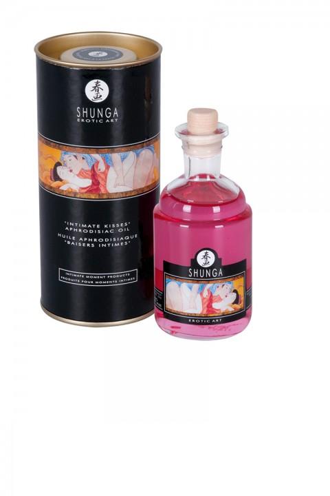 Massageöl - Intimate Kisses Sekt-Erdbeere - Shunga