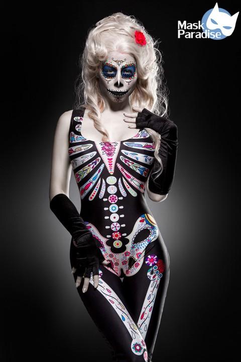 Skelett Kostüm bunt