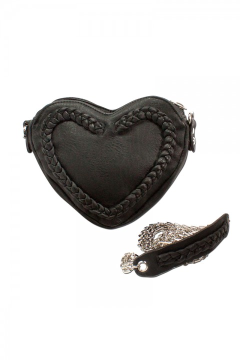 Trachtentasche Herz schwarz