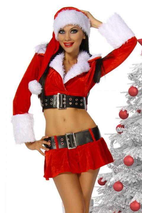 Sexy Weihnachtskostüm langarm